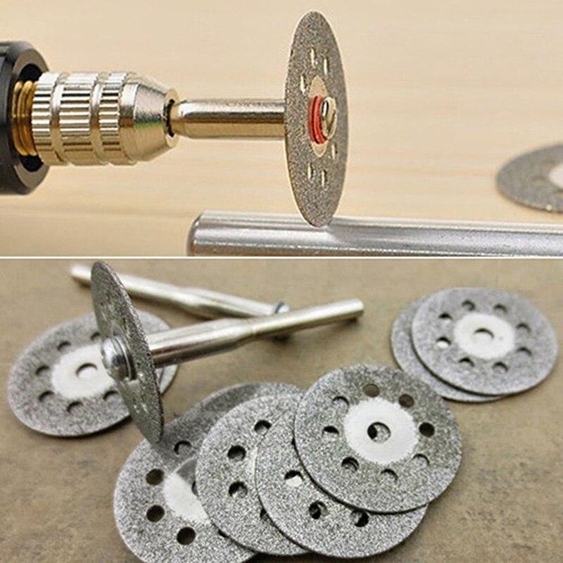 10pcs 22mm Circular Saw Blades Cutting Wheel Discs For Wood Cutting And 2pcs Mandrels Set Rotary Tool