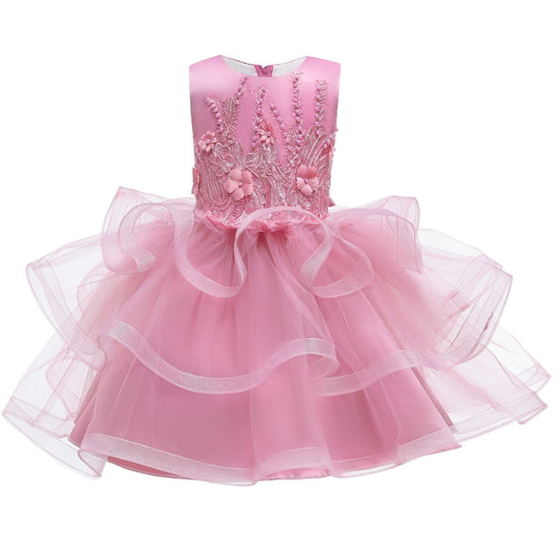 Flower Girl New Year Party Holy Communion Formal Dance Party Pompous Dress Girl Princess School Graduation Dinner Dress Vestido