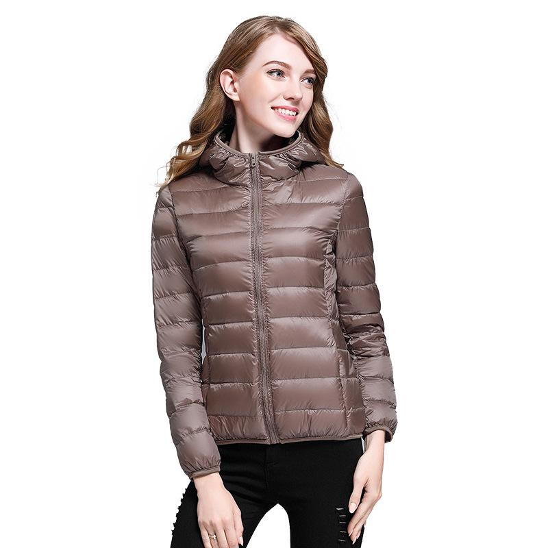 Mature Stable Style Super Warm Duck Down Jacket Ladies Hooded Jacket Winter Warm Jacket China Manufacturing Brand Direct Sales