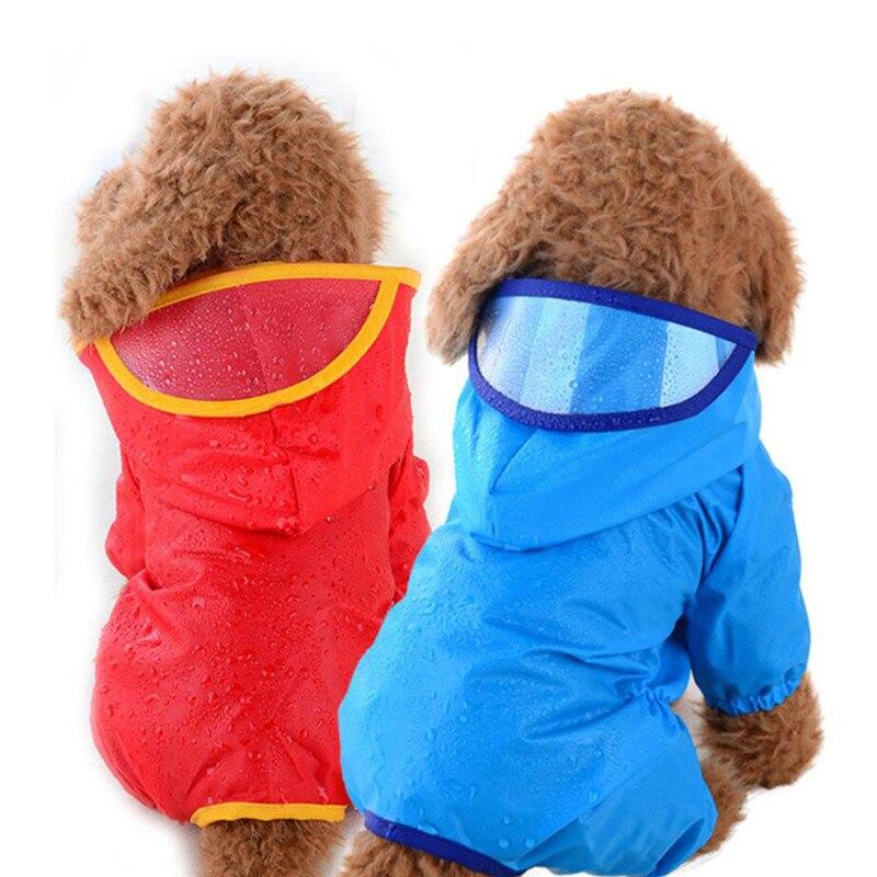 Плащ-дождевик для щенков, дышащий дождевик для питомцев, кошек, маленьких собак, дождевик с капюшоном, водонепроницаемые куртки