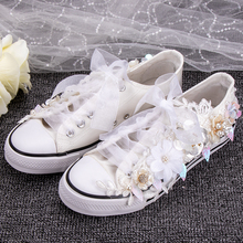 Bride Shoes Vulcanized Sneakers Parent Child Shoes Sewed Lac