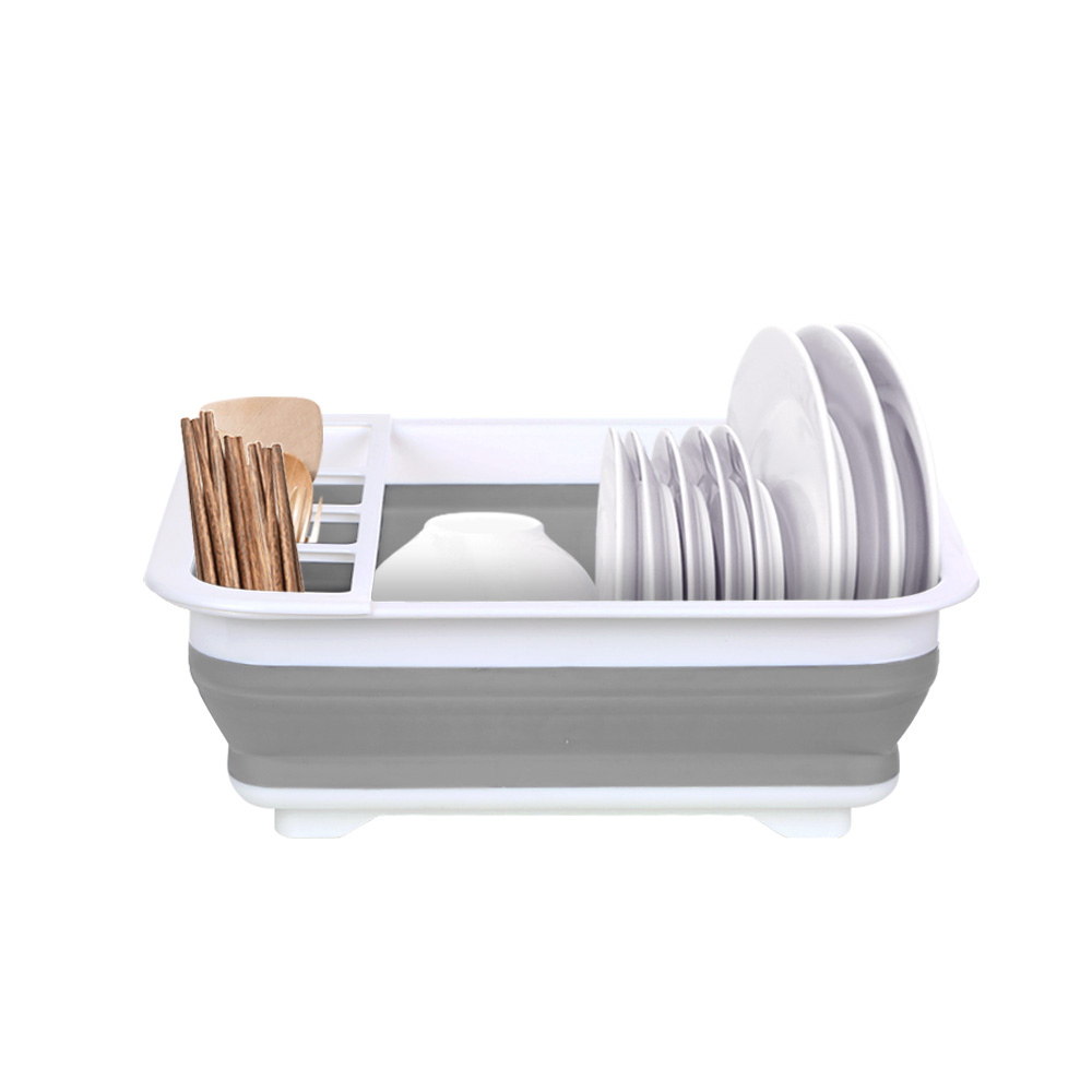 Dish Drainer Rack Washing Holder Dish Bowl Storage Rack Draining Board Dish Rack Cup with Tray Drain Bowl Rack Kitchen Organizer