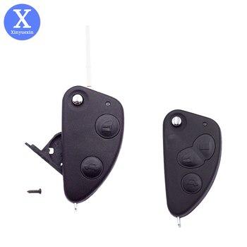 Xinyuexin-funda de control remoto plegable para coche, 2 botones, 3 teclas de...