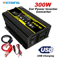 VicTsing 300W Car Power Inverter Converter DC 12V to AC 110V 220V Portable Car Adapter Power Inverter Adapter with Dual USB Port