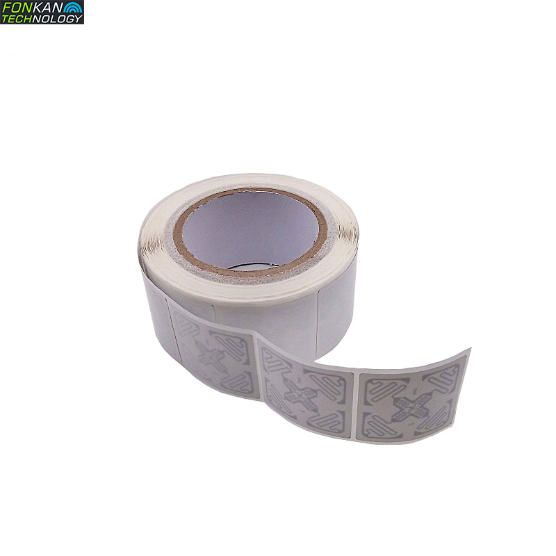 EPC C1G2 UHF RFID  H47 Label J41 Wet Inlay  9662 White Label Sticker Tag With M4/H3/R6 Chip 50x50MM 73x21mm