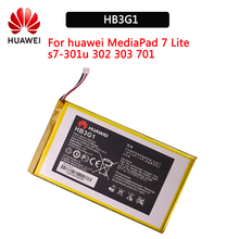 100% Original HB3G1 4000mAh MediaPad Battery For Huawei S7-303 S7-931 T1-701u S7-301w MediaPad 7 Lite s7-301u S7-302 for new touch screen digitizer glass replacement huawei mediapad 7 youth2 youth 2 s7 721u s7 721 7 inch black free shipping
