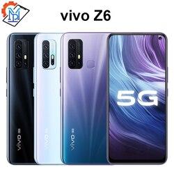 Vivo Z6 мобильный телефон с 6,3-дюймовым дисплеем, процессором Snapdragon 76, ОЗУ 6 ГБ, ПЗУ 128 ГБ, 5000 мАч, Android 10, 4 камеры, 44 Вт