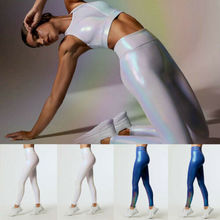 New Fashion Workout Gym Shiny Sports Pants Women Leggings Fitness Stretch Trousers Joggers Sequin