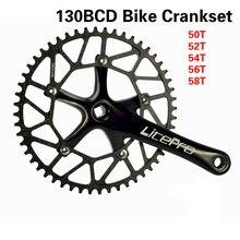 Складная велосипедная Кривошип BXM, Ультралегкая велосипедная Кривошип 130BCD, 5 гвоздей, 170 мм, квадратное отверстие, 50T 52T 54T 56T 58T