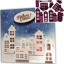 New  Making Cards Decoration Cutting Dies Christmas house Scrapbooking Metal Crafts Stamps Embossing