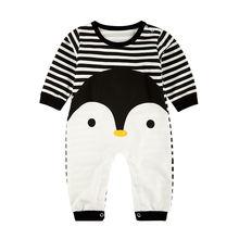Детская одежда в виде пингвина весенне осенний комбинезон с