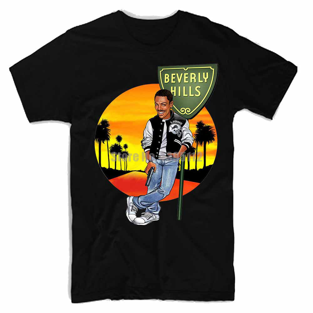 Beverly Hills Cop Movie Homme Tshirt Hip Hop Clothing T Shirts Sexy Girl T-Shirt O Neck T-Shirts Mens Clothing image
