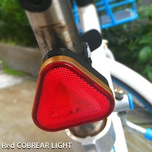 Bicycle USB Charging Taillight Highlight Cob Warning Taillight Waterproof Triangle Flash Light Riding Equipment usb charging led bicycle light 5 light mode highlight waterproof warning bike light to send free usb cable suit for night riding