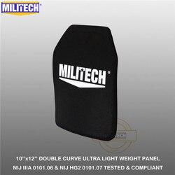 MILITECH Piatto A Prova di Proiettile 10 x 12 NIJ IIIA 3A 0101.06 & NIJ 0101.07 HG2 Ultra Light Weight UHMWPE balistico Zaino Panel (1 PC)