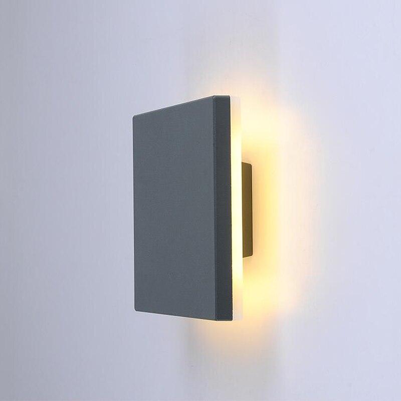 Wodoodporne oświetlenie zewnętrzne nowoczesna lampa ścienna zewnętrzna lampa LED dziedziniec zewnętrzny kinkiet chodnik ogród na werandzie ściana światła IP54