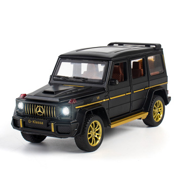 1:32 Toy Car Alloy Car Model Diecast Metal Toy Vehicles G63 Sound Light Pull Back Car Door Open For Kids Toy Birthday Gift 1 36 benz e63 amg alloy pull back car model diecast metal toy vehicles 2 open doors for kids gift free shipping
