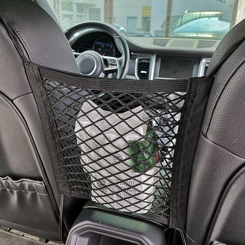 1* Car Net Bag Elastic Side Door Storage Pocket Auto Phone Holder Bags Organizer