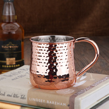 304 stainless steel coffee cup plated rose gold rippled mug beer flame cocktail glass