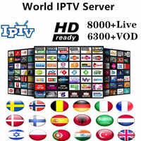 Mundo IPTV Europa 8000 canales M3u suscripción Iptv Reino Unido Italia españa francia Alemania Portugal Voor Android Box extrema2 m3u Smart TV