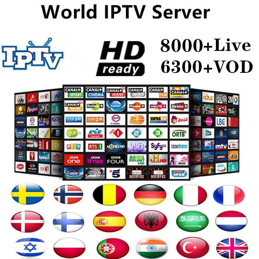 World IPTV Europe 8000Channel M3u Subscription Iptv UK Italy Spain Drance Germany Portugal Voor Android Box Enigma2 M3u Smart TV