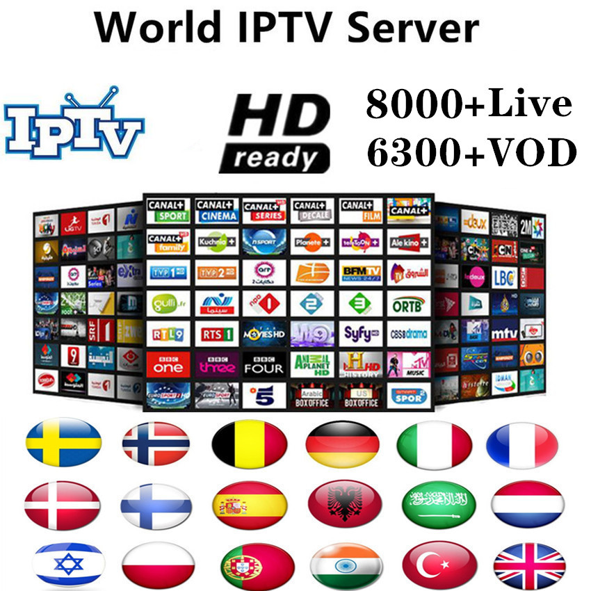 World IPTV Europe 8000Channel M3u Subscription Iptv UK Italy Spain France Germany Portugal Voor Android Box Enigma2 M3u Smart TV