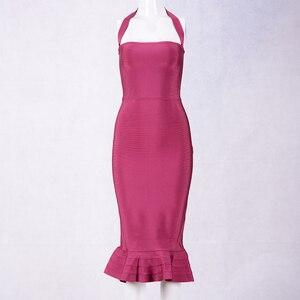 Image 5 - Yeni ünlü parti bandaj elbise kadınlar spagetti kayışı straplez seksi gece kulübü elbise kadınlar Mermaid Vestidos toptan
