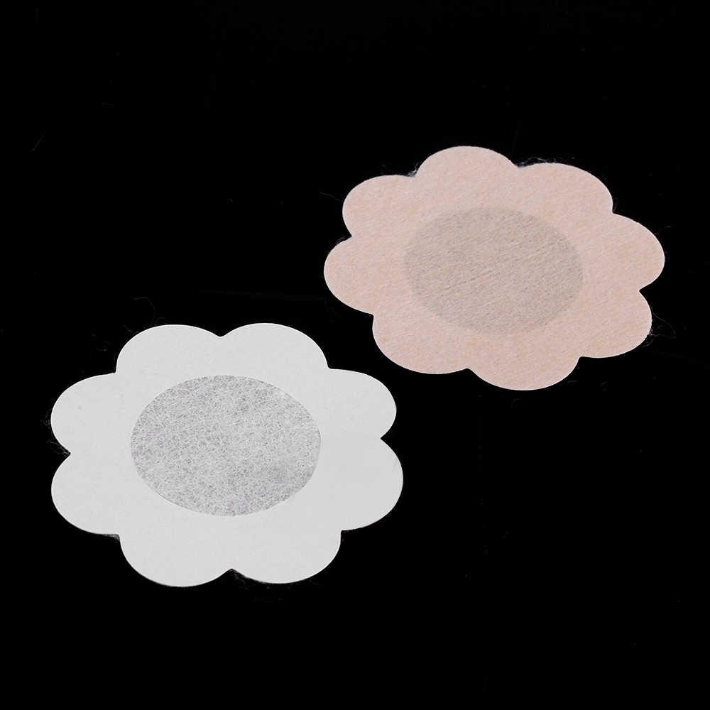 10 sztuk/partia samoprzylepne kwiat osłony na sutki klocki ciała piersi naklejki jednorazowe mleko wklej anty puste klatki piersiowej wklej naszyjnik biustonosz