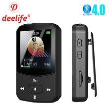 Deelife MP3 Lecteur Bluetooth pour le Sport En Cours D'exécution Portable Mini Mp 3 Musique avec Clip FM Radio Podomètre D'enregistrement Brassard