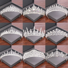 Newest Rhinestone Bride Tiaras and Crown Wedding Hair Accessories Bridal Crown Silver Color Wedding Crystal Tiara Headpiece(China)