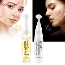OMYLADY 24K Gold+Silver Silk Collagen  Face Serum Anti-Aging Lighten Spots Hyaluronic acid Moisturizing Whitening Firming skin 24k collagen skin face moisturizing hyaluronic acid 30ml