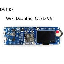 DSTIKE WiFi Deauther OLED V5 ESP8266 Scheda di Sviluppo per 18650 di Protezione di Polarità Della Batteria wiht Caso Antenna 4MB I1 003