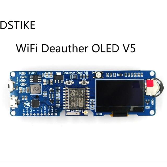 Dstike Wifi Deauther OLED V5 ESP8266 Ban Phát Triển Cho Pin 18650 Bảo Vệ Phân Cực Wiht Ốp Lưng Ăng Ten 4 Mb I1 003