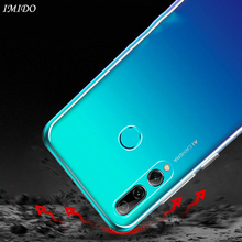 IMIDO Silicone TPU Case for Huawei P Smart Plus 2019 Z Back Soft Cases Y9 2018 Protective Cover Transparent