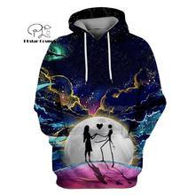 PLstar Cosmos jack skellington Jack Sally 3d hoodies/shirt/Sweatshirt Winter Nightmare Before Christmas Halloween streetwear-25