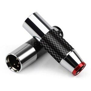 4-контактный разъем XLR для штекера, адаптер XLR из углеродного волокна для микрофона, миксера, усилителя, балансного динамика, аудиоразъем