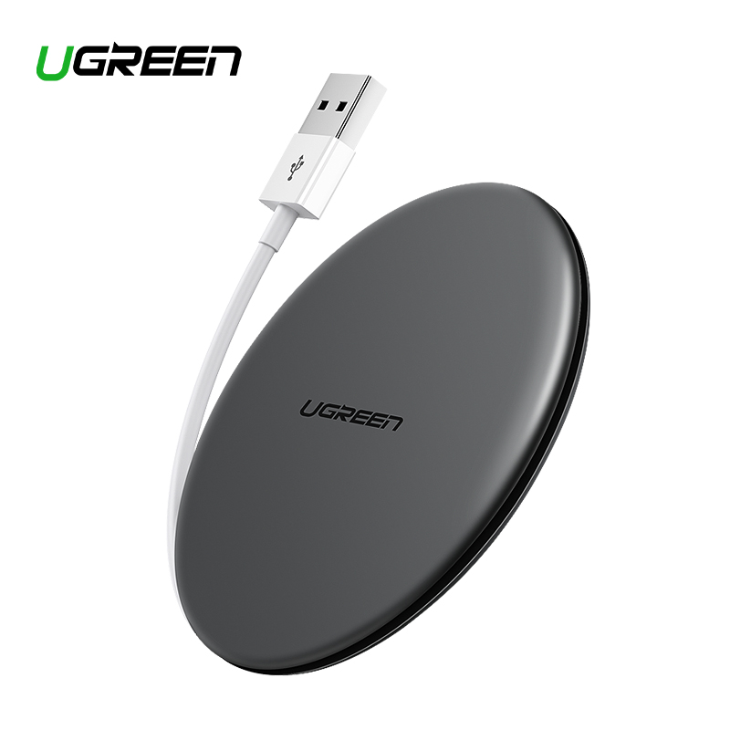 Ugreen Wireless Charger 10W 7.5W Qi Wireless Charging For Xiaomi Mi 9 IPhone X XS 8 XR Samsung S9 S8 Fast Phone Wireless Charger