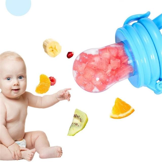 1pcs Utensils Baby Kids Smart Dispenser Feeder Squeeze Pacifier Feeding Utensils Baby Accessories