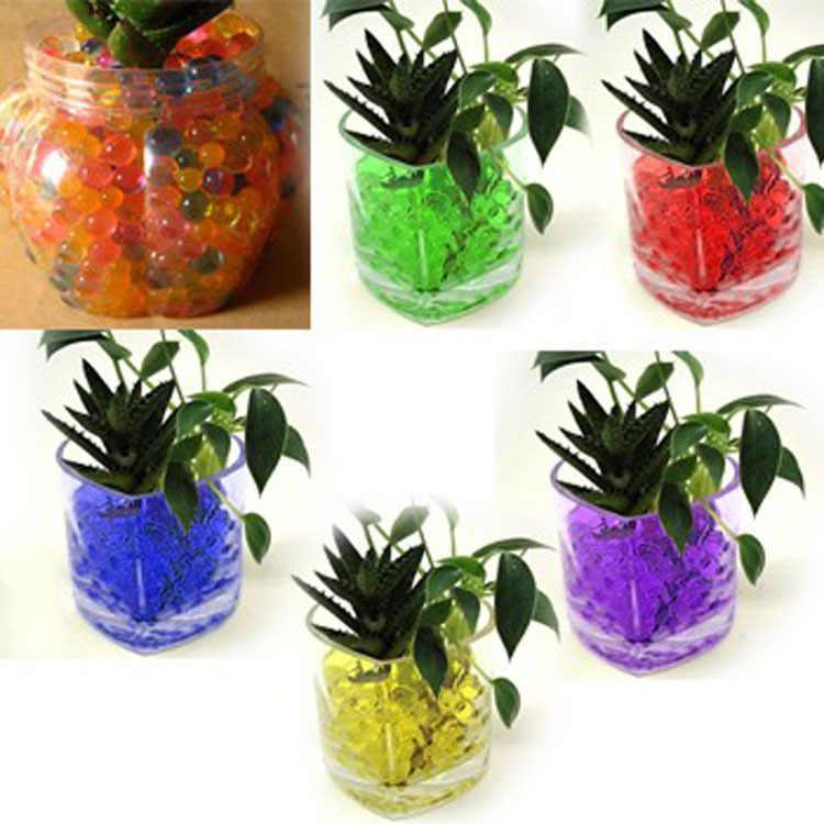150 יח'\שקית קריסטל רב צבעי אדמת בוץ לגדול עד מים חרוזים חמוד הידרוג 'ל קסם ג' ל ג 'לי כדורי אגרטל דקור