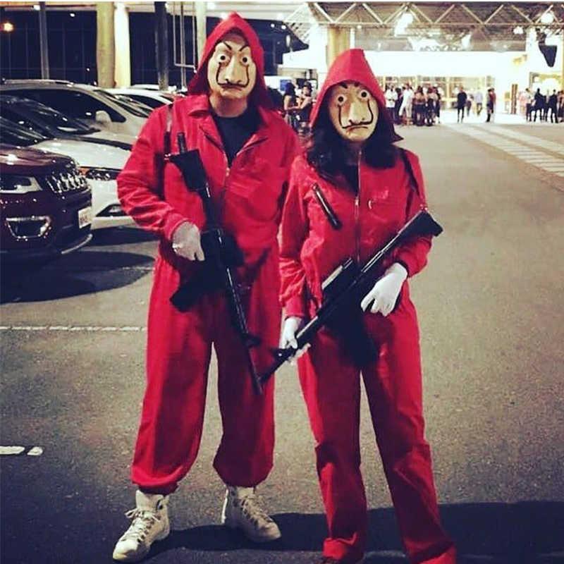 Salvador Dali Costume Cosplay La Casa De Papel Viso Fancy Festa di Carnevale Signori Costumi Per Adulti per bambini di Halloween