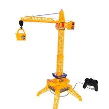 Детский кран с дистанционным управлением, подъемная конструкция, Инженерная модель машины, башенный кабель, шахтная машина, игрушечная башня в подарок
