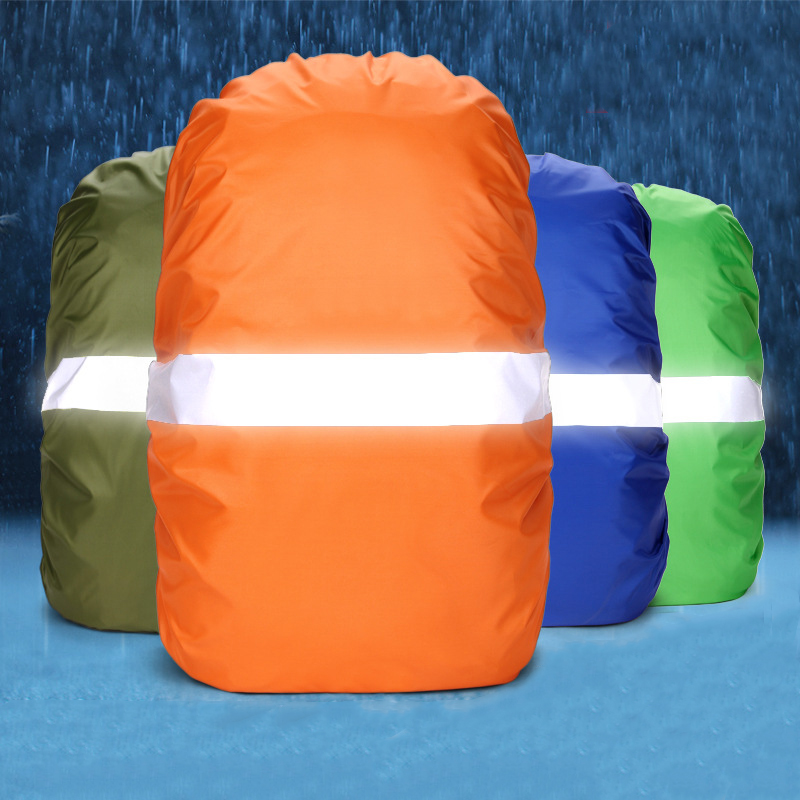 Outdoor Bag Cover 100L Military Bag Waterproof Dustproof Backpack Rain Cover Portable Ultralight Reflective Sports Bag Protector