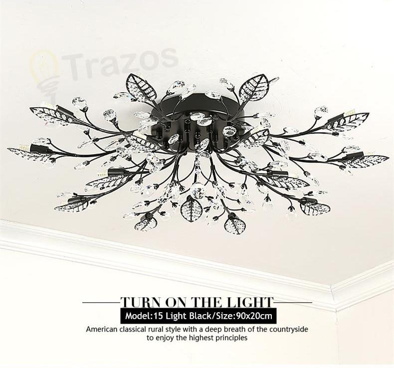 H208b013d325040a6abdd16b9d9e79596m TRAZOS New item fancy ceiling light LED Crystal ceiling lamp modern lamps for living room lights,AC110-240V DIY Crystal lighting
