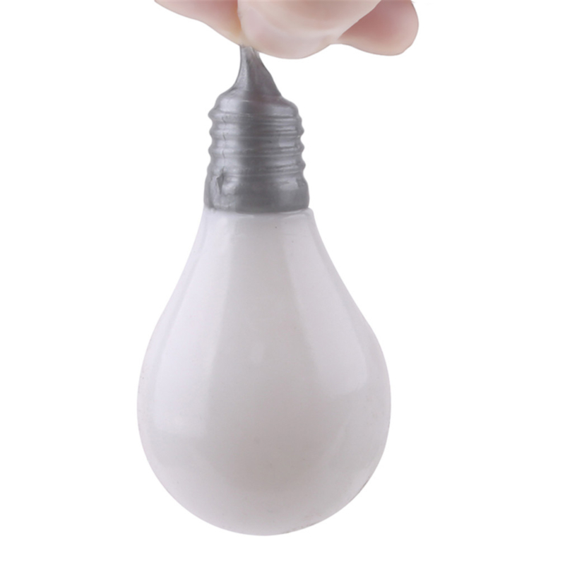 Light Bulb Squeeze Ball Magic Vent Toys Stress Reliever Toy Squish Ball Light Bulb Lamp Splat Ball Novelty Funny Squishies