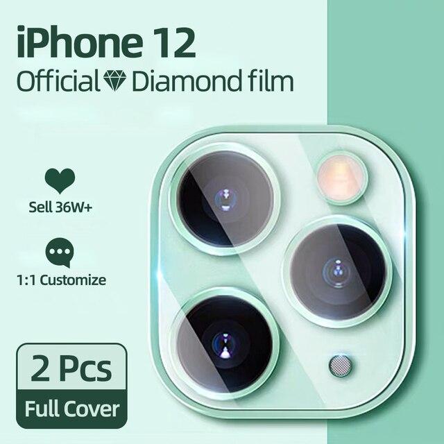 2 шт. 9D защитное стекло на объектив iPhone 12 1