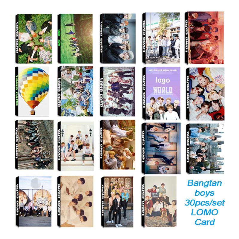 30pcs/set Fashion Kpop Bangtan Boys Photocard Album Photo Card High Quality HD Clear Picture For Fans Collection Bangtan Boys