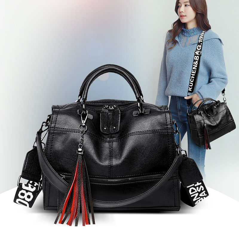 Women Handbag  Genuine Leathe Black Shoulder Bag Fashion Crossbody Bag For Women Fashion Shopping  Purses For Girls