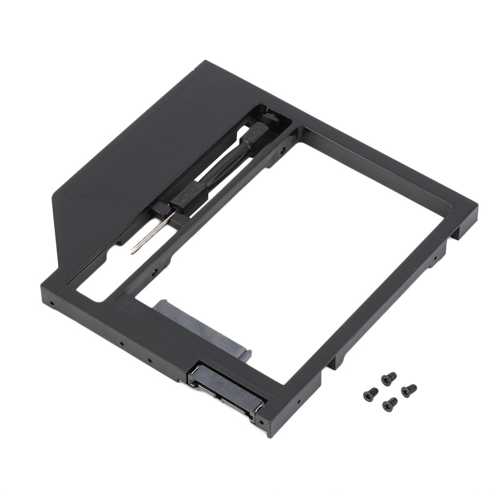 2nd HDD Caddy Hard Drive Disk SATA Case With Screwdriver For Laptop PC
