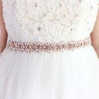 Wedding Dress Belts Applique Crystal Bridal Belt Rhinestones Flower Bridal Sash For Wedding Accessories Bridal Belt Sash JK817