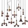 Светодиодный подвесной светильник для спальни Американский винтажный подвесной светильник из железной водопроводной трубы промышленный ...