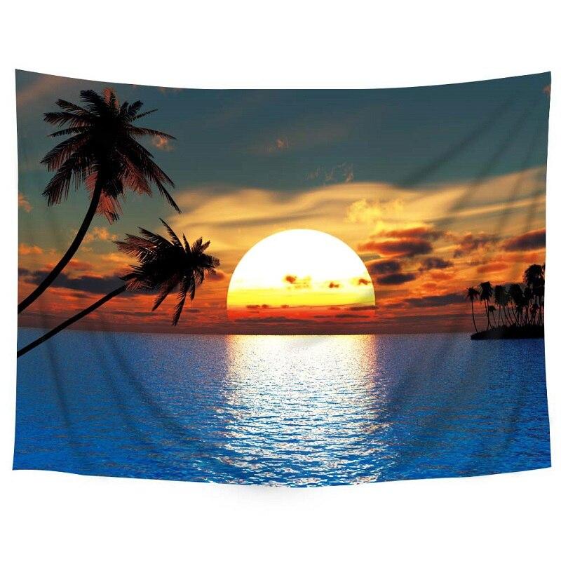 3 Sizes Polyester Hanging Tapestry Beach Yoga Mat Travel Carpet Home Art Decor Washable Bedroom Curtain zwbra shower curtain